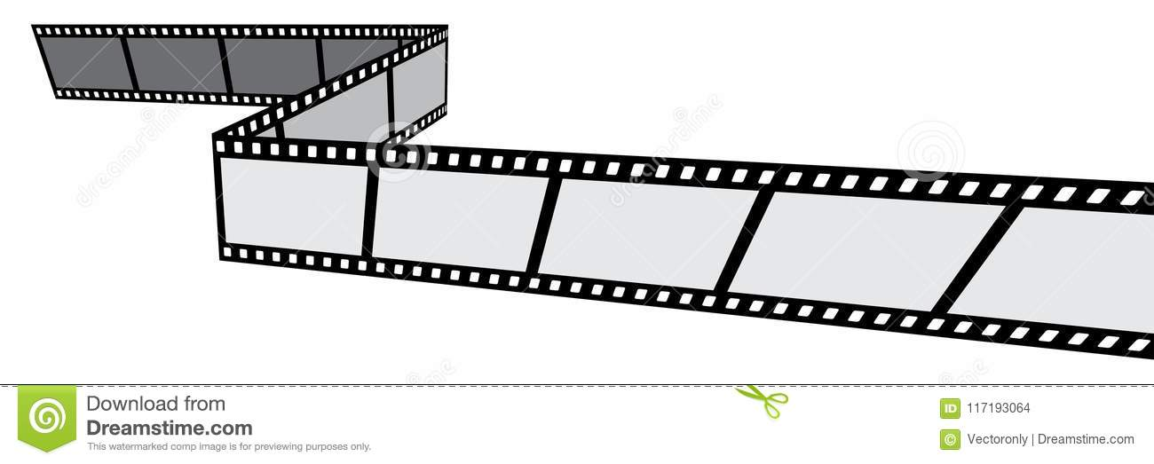 Film Strip On White Background Stock Vector - Illustration of