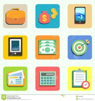 Finance Vector Icons Flat
