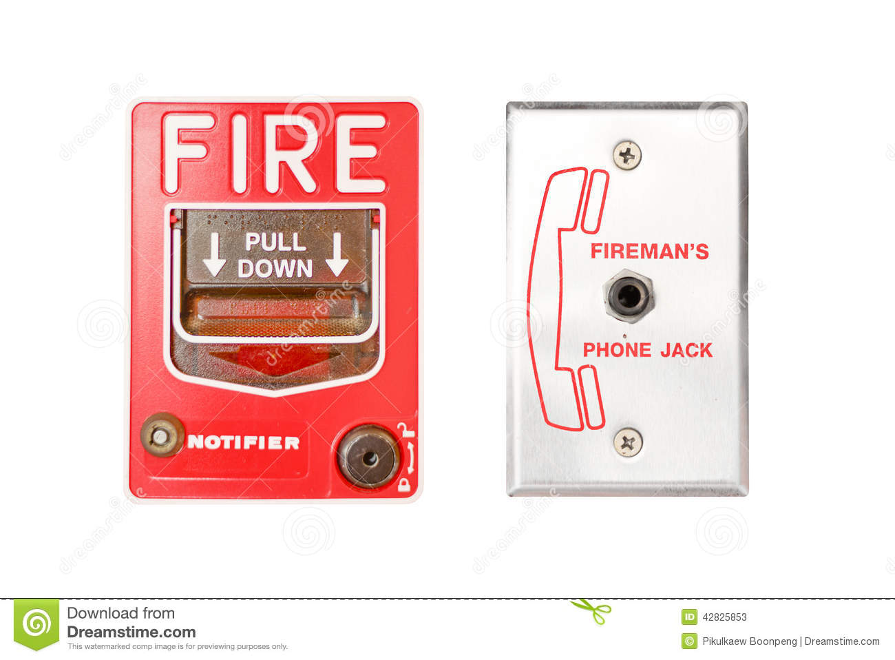 Fire Emergency Alarm Stock Illustration Illustration Of