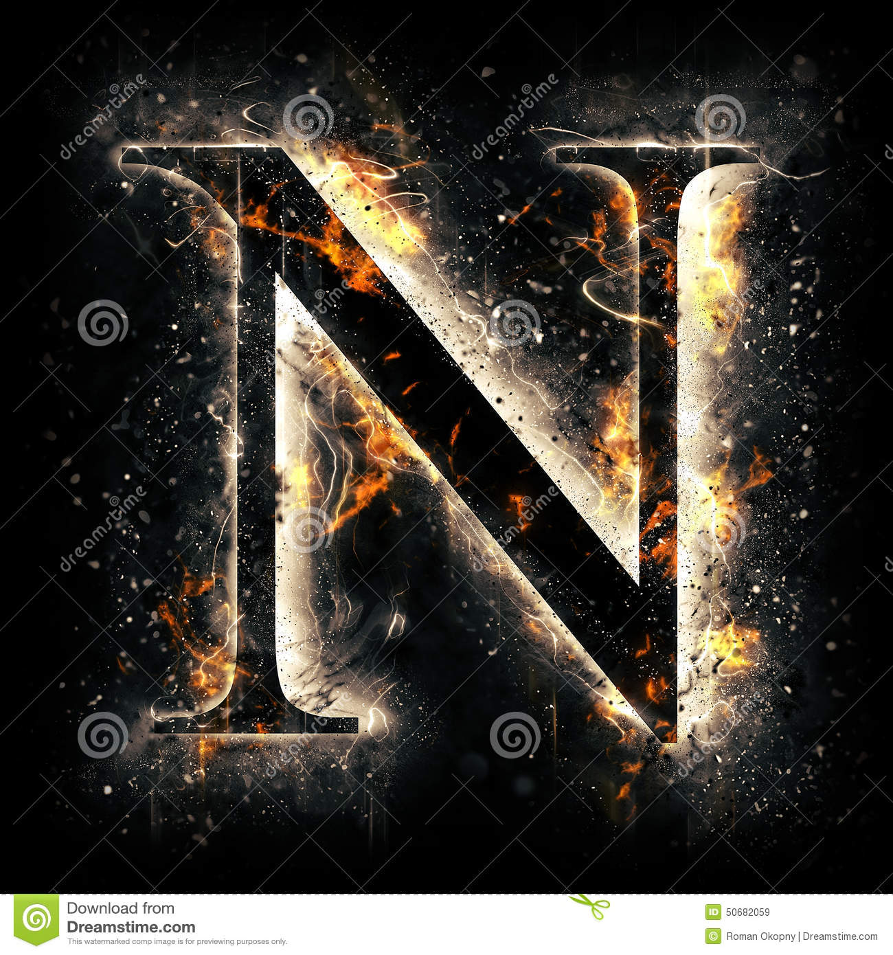 G Letter 3d Wallpaper Fire Letter N Stock Illustration Image 50682059