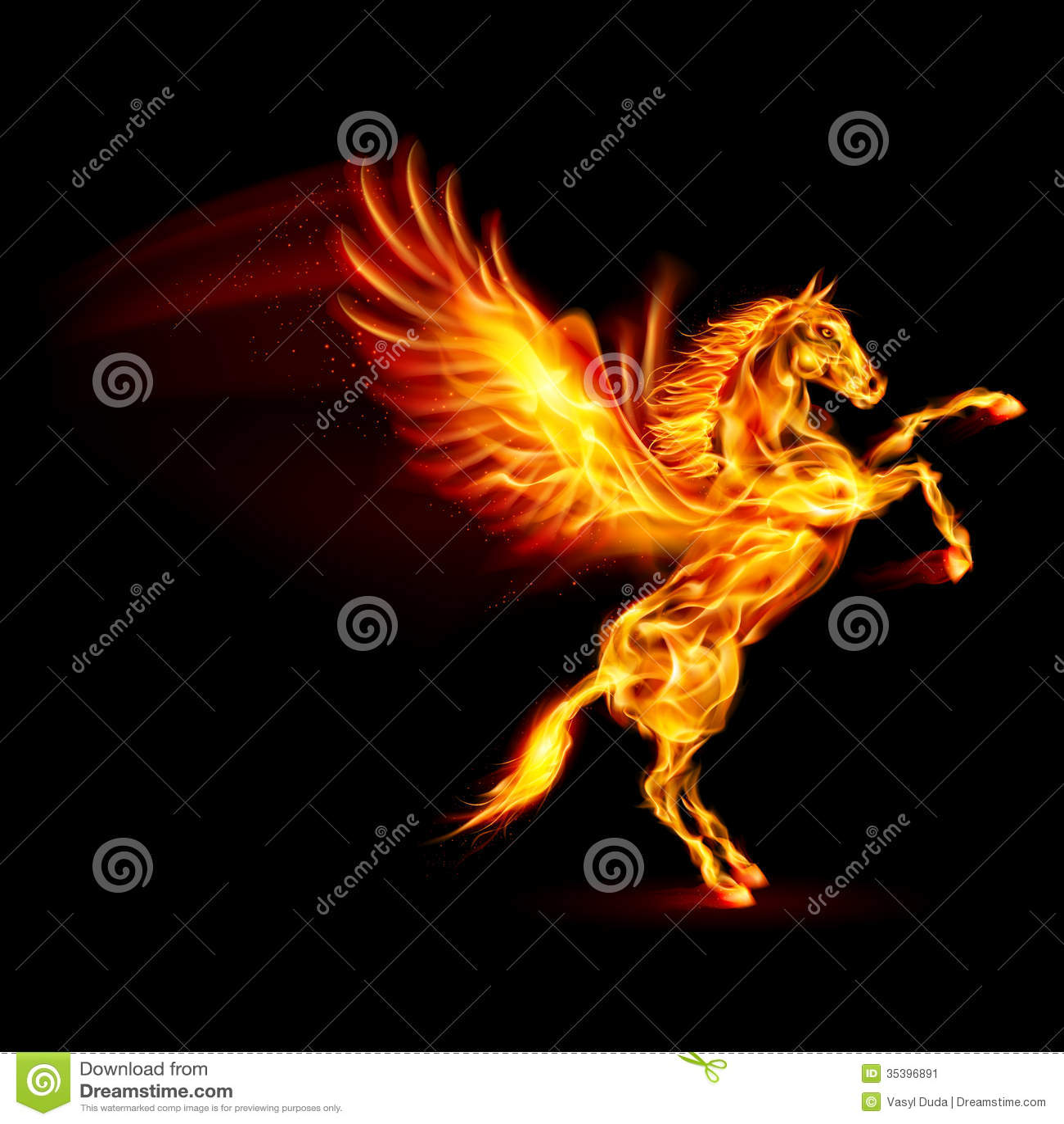 Fire pegasus stock image image 35396891