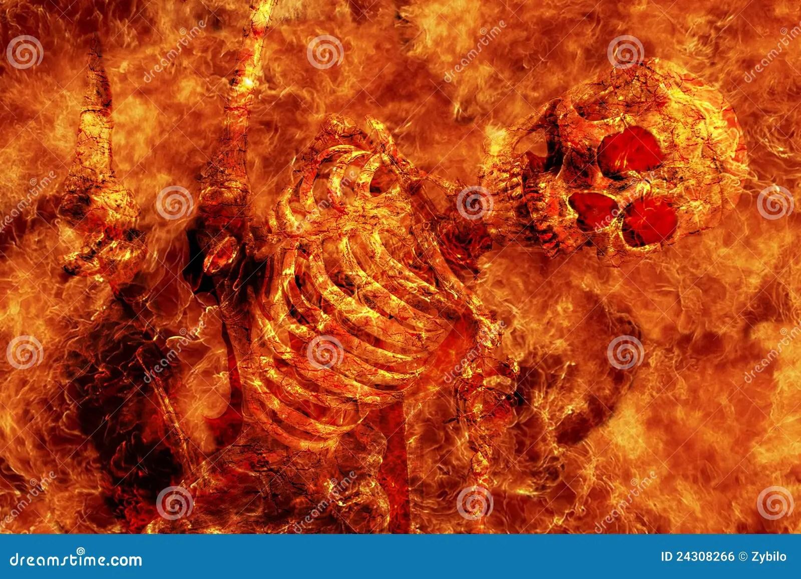 Wallpaper Hd Skeleton Fire Skeleton Stock Photo Image Of Hallowen Heat