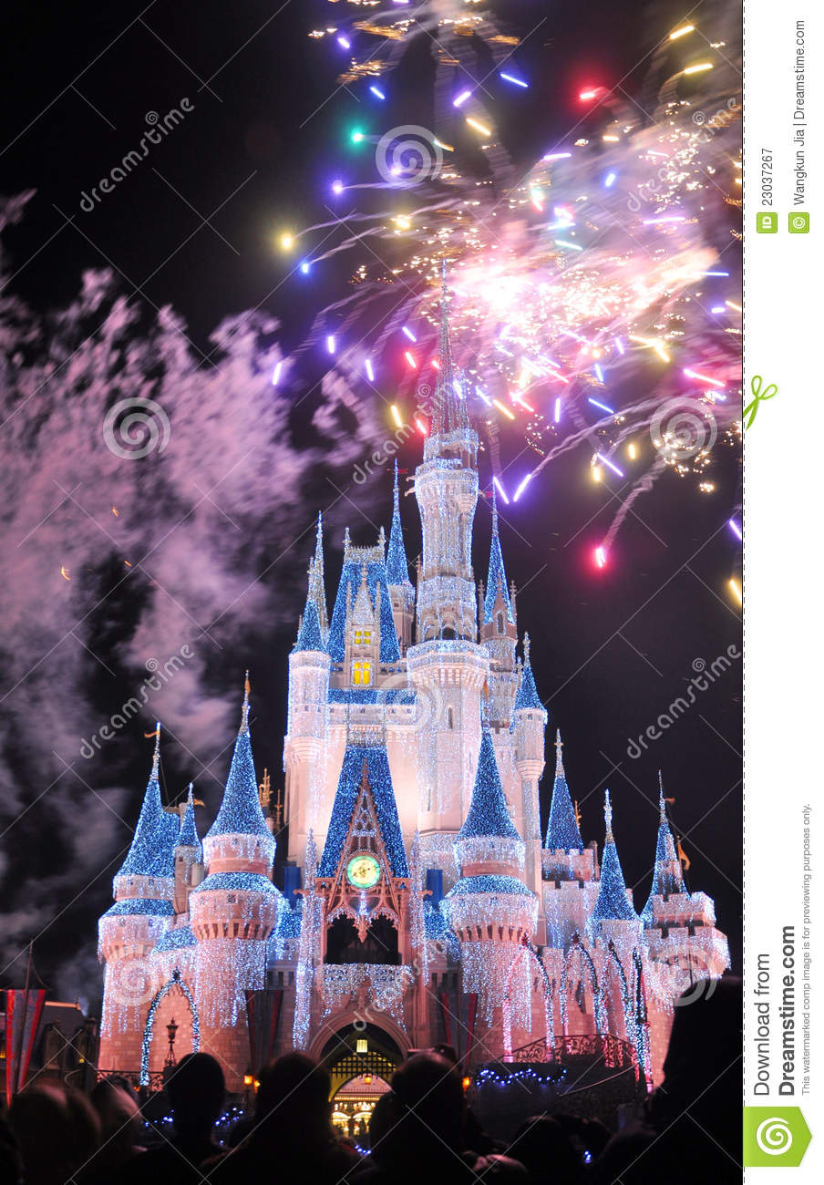 Wallpaper Mickey Mouse 3d Fireworks At Disney Cinderella Castle Editorial