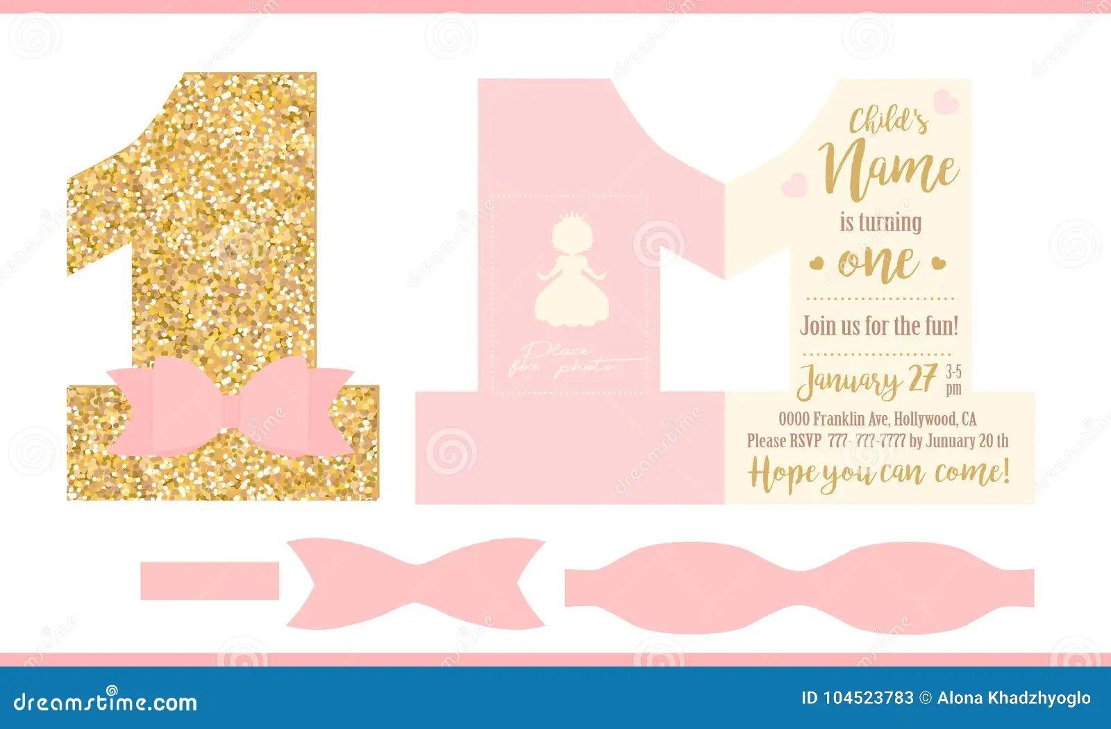 princess birthday card template