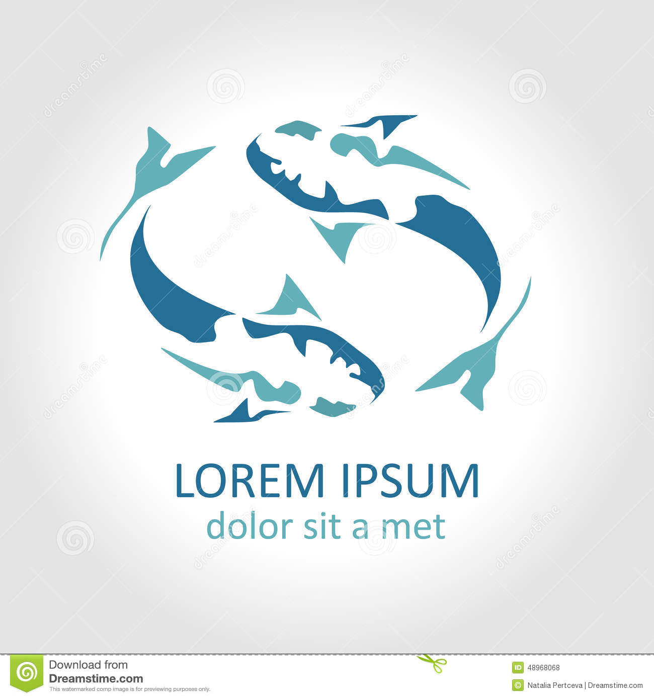 Website Templates Web Templates Dreamtemplate Fish Abstract Vector Design Logo Template Stock Vector