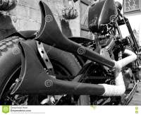 Fishtail Exhaust Pipes Stock Photo - Image: 70943170
