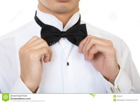 Fixing A Bow Tie Stock Image