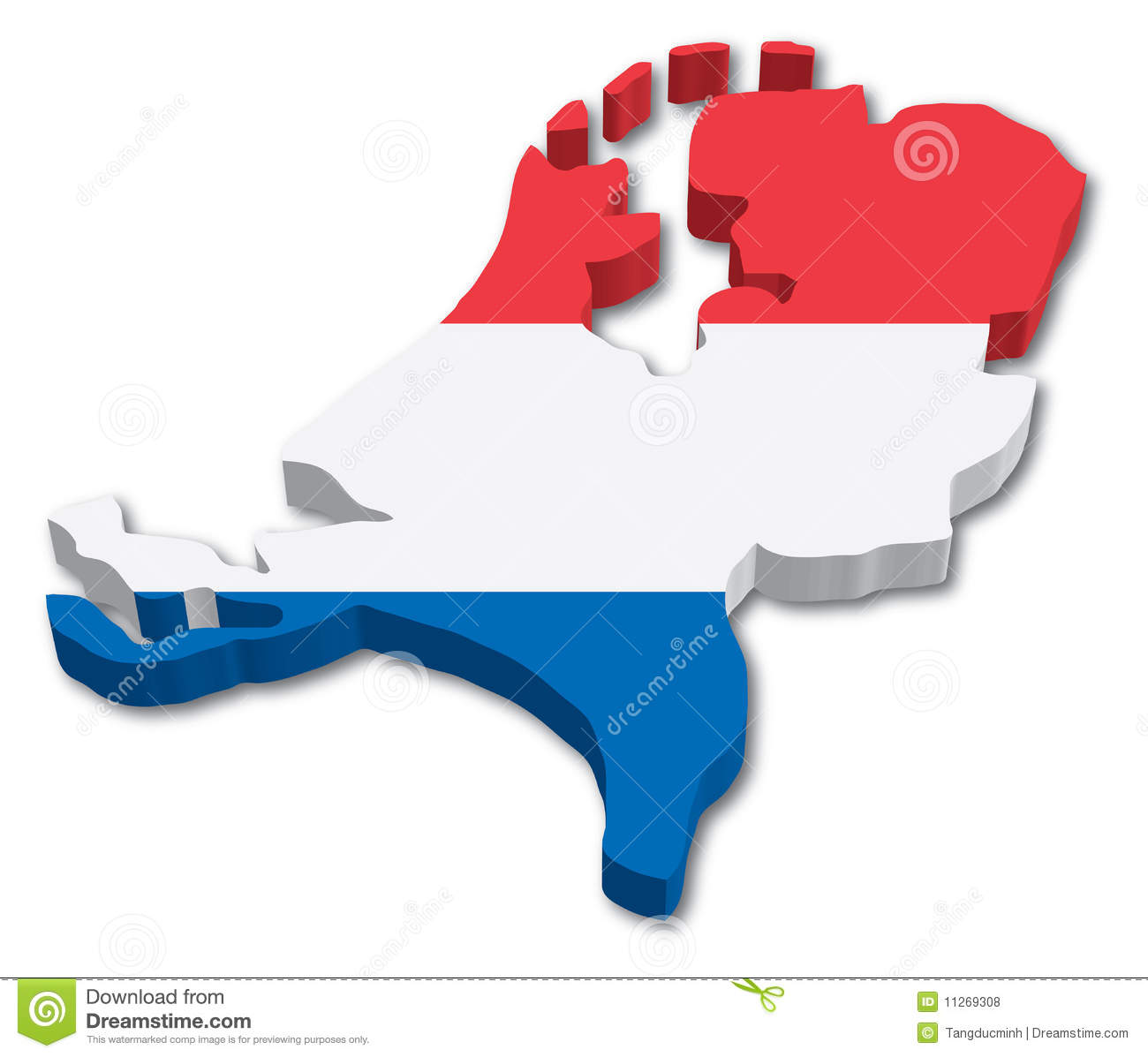 Kare Design Nederland Flag Map Of Holland Royalty Free Stock Photos Image