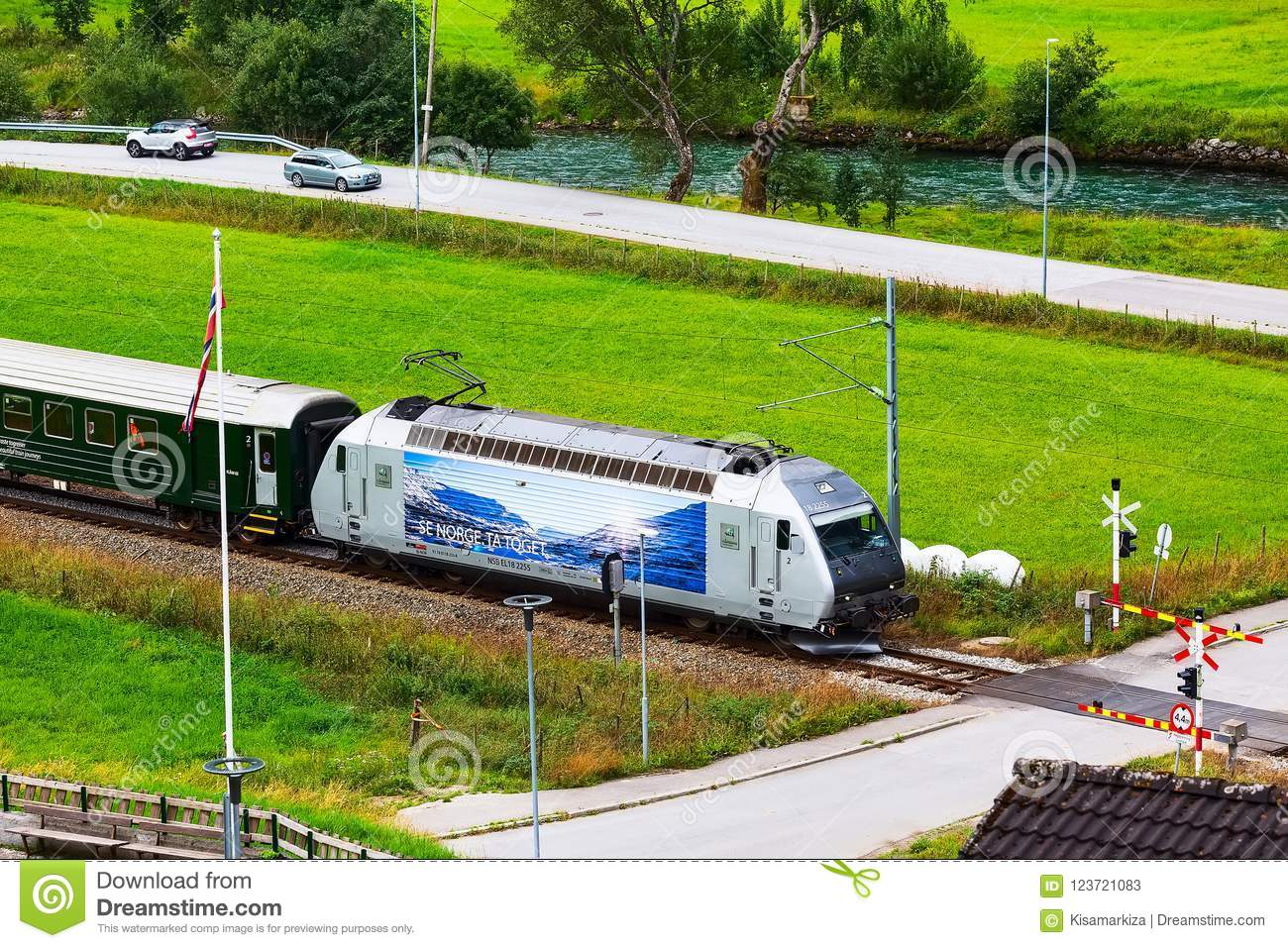 Norway Train Flam Norway Train To Myrdal Editorial Stock Photo Image Of