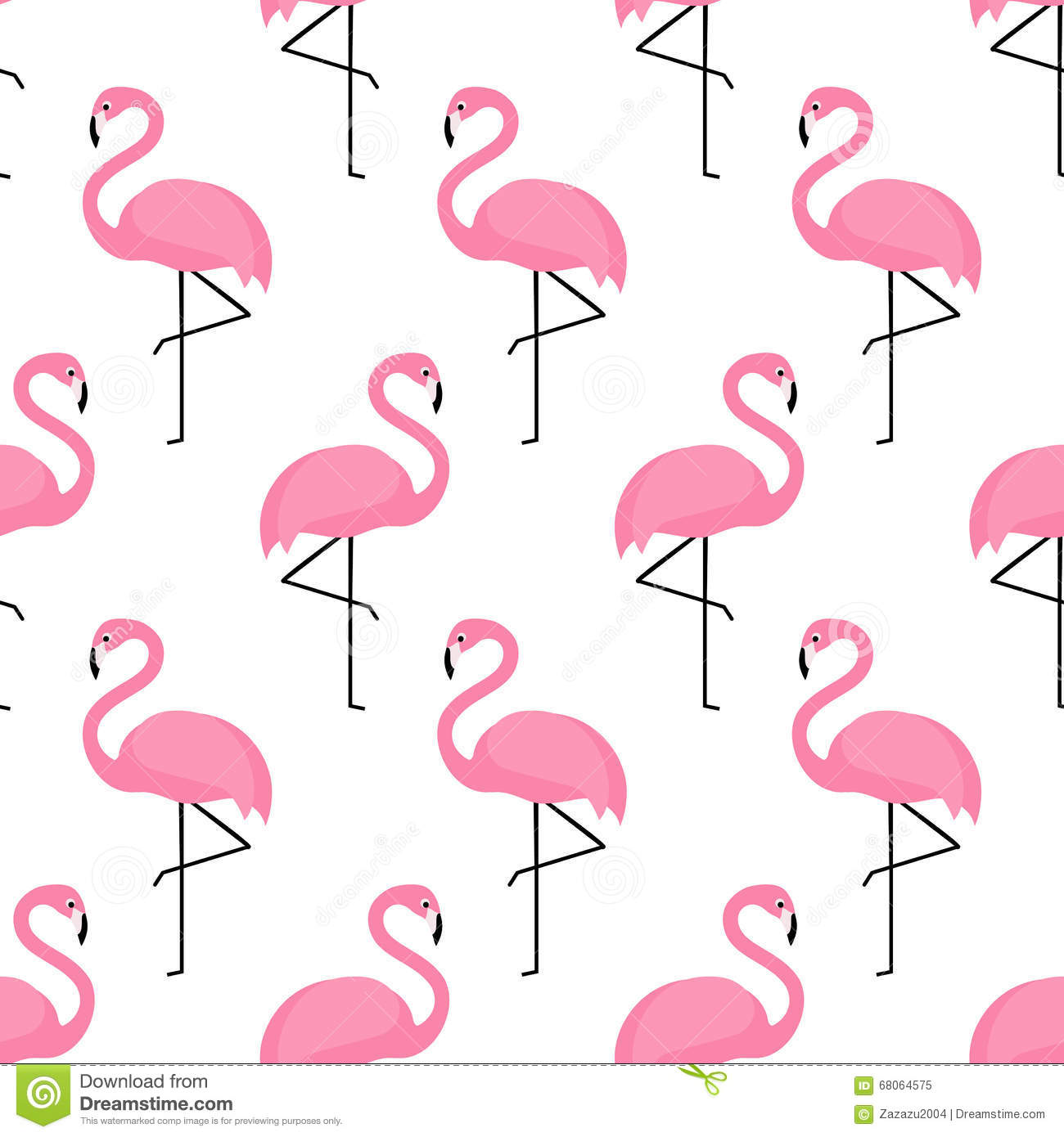 Cute Panda Iphone Wallpapers Flamingo Seamless Pattern On White Background Stock