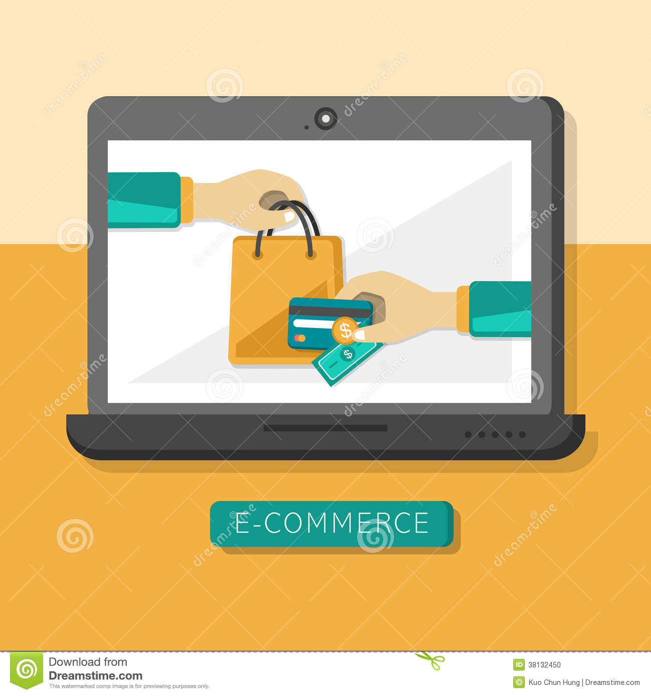 Design Outlet Online Flat Design Concept With Icons Of E Commerce Ideas Symbol