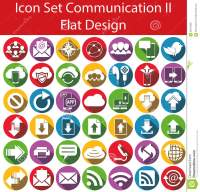 Flat Design Icon Set Communication II Stock Vector - Image ...