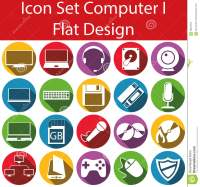 Flat Design Icon Set Computer I Stock Vector - Image: 65664915