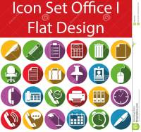 Flat Design Icon Set Office I Stock Vector - Image: 65664942