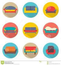 Flat Design Sofa Icons Stock Vector - Image: 40539518