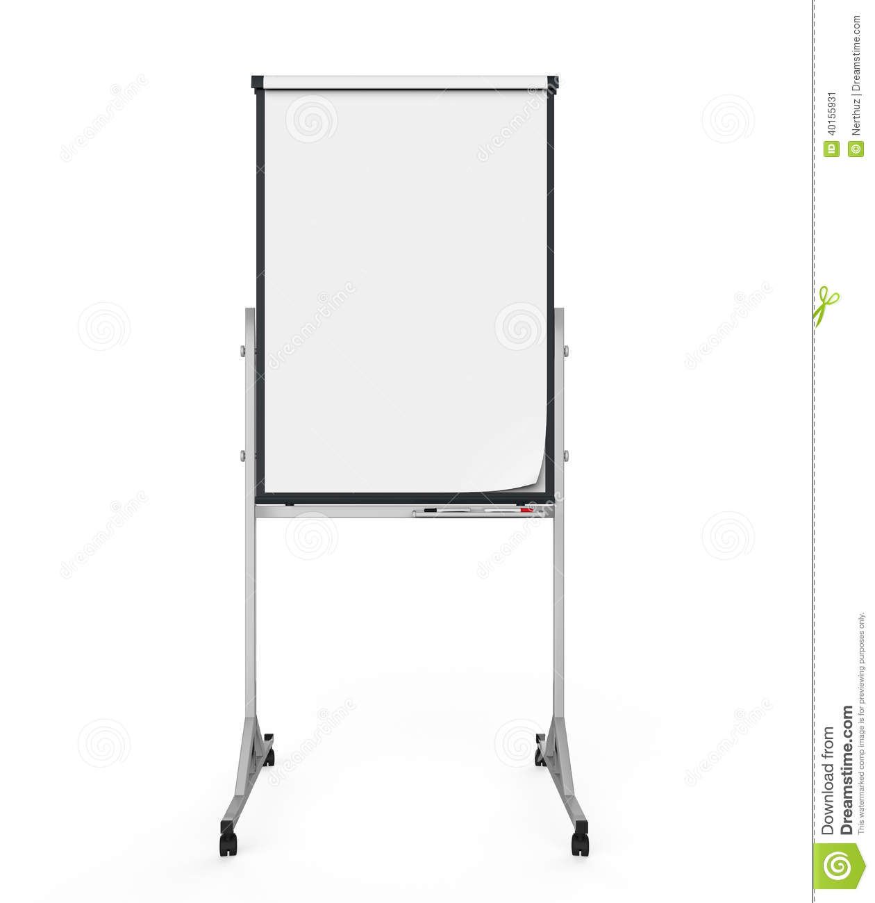 Memo Board Flip Chart Paper And Board Stock Illustration. Image Of