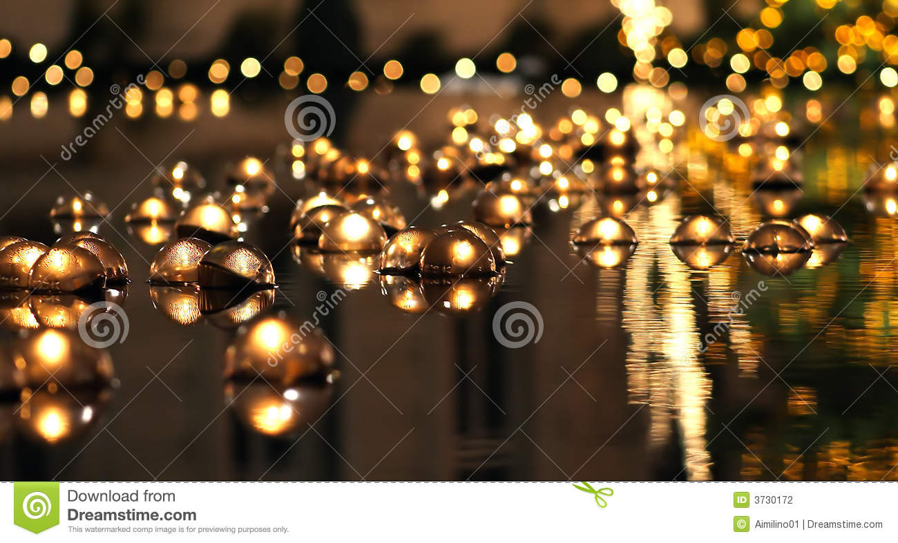 Candle Wallpaper Hd Floating Candles In Reflection Stock Photo Image Of