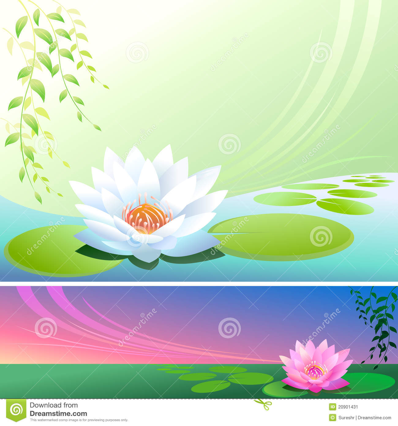 Buddha 3d Wallpaper Hd Flor De Loto Abstracta En Una Charca Vector Backgroun