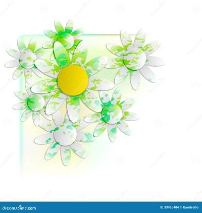 Floral Background Into Corner Stock Images - Image: 33985484