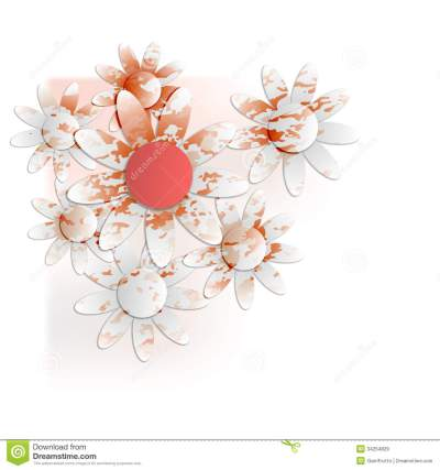 Floral Background Into Corner Royalty Free Stock Images - Image: 34254829