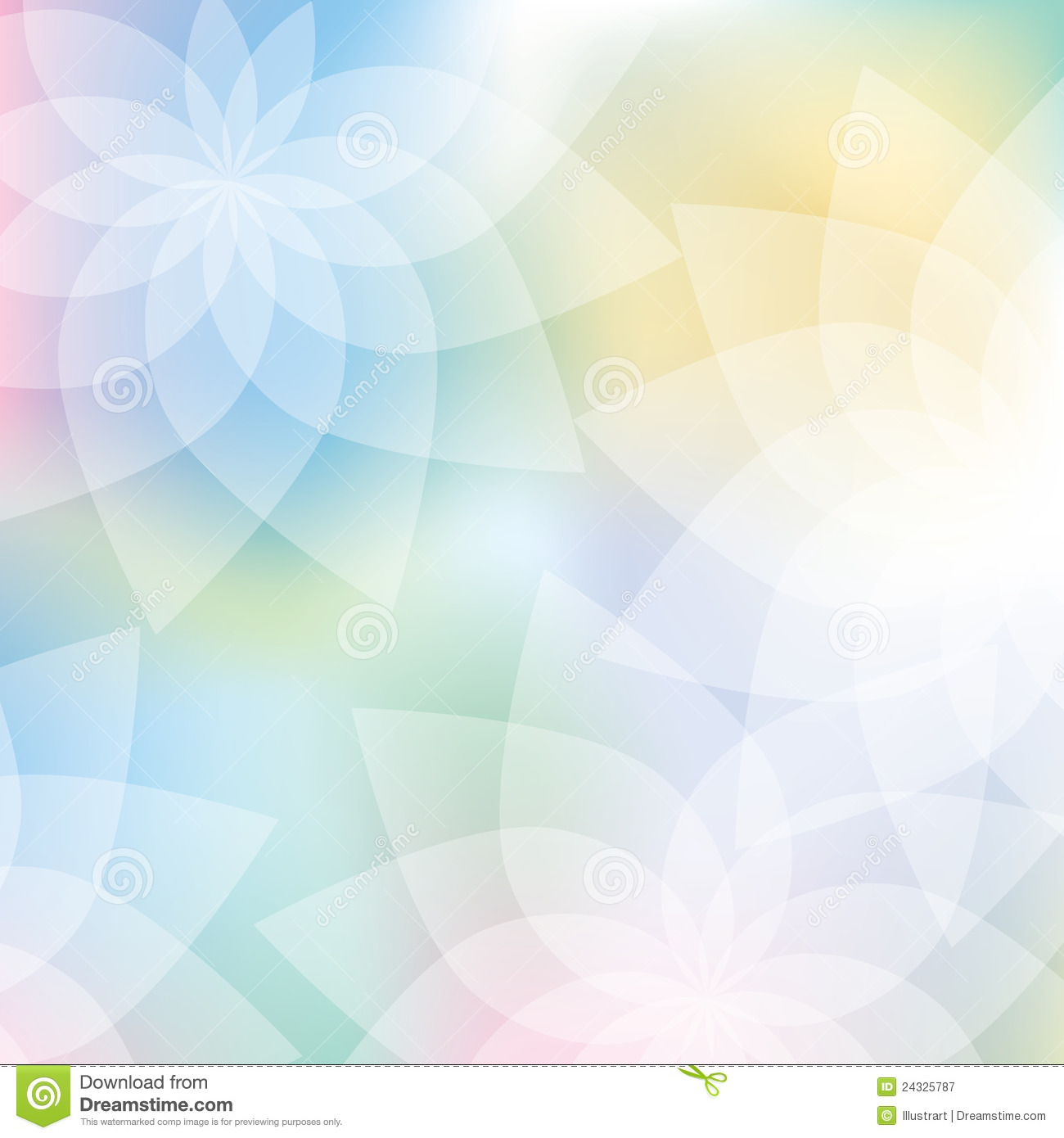Floral Print Iphone Wallpaper Floral Background In Pastel Colors Stock Vector