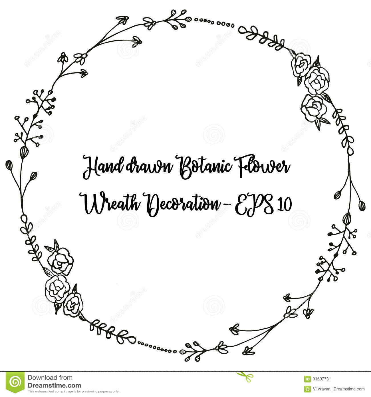 Black and white floral wreath stock vector image 65241515 -  Wreath Stock Vector Image 65241515 Floral Black And White Hand Drawn Download