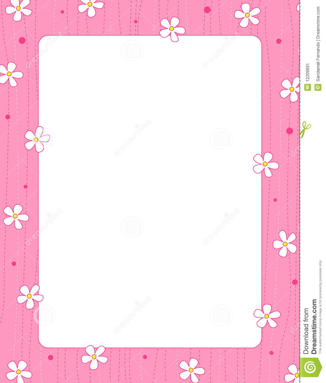 Cute Bordered Pastel Flower Wallpaper Floral Border Frame Stock Vector Illustration Of Blooms