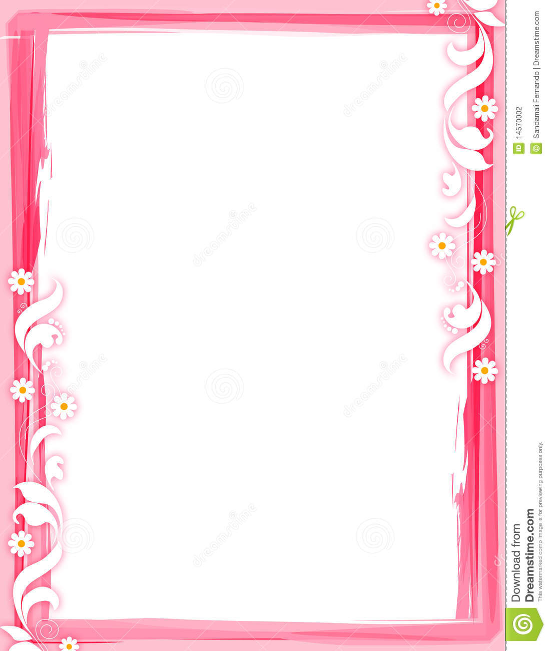 Cute Letter M Wallpaper Floral Border Red Stock Photography Image 14570002