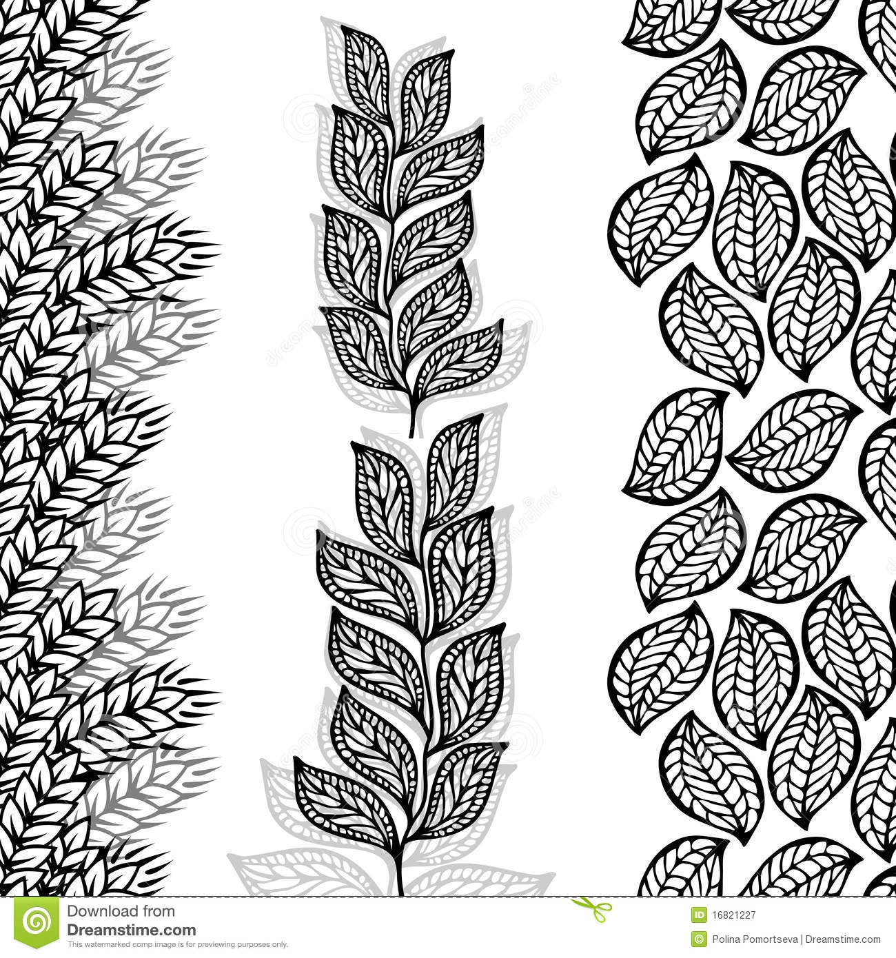 Free Animated Autumn Wallpaper Floral Borders Seamless By Vertical Royalty Free Stock