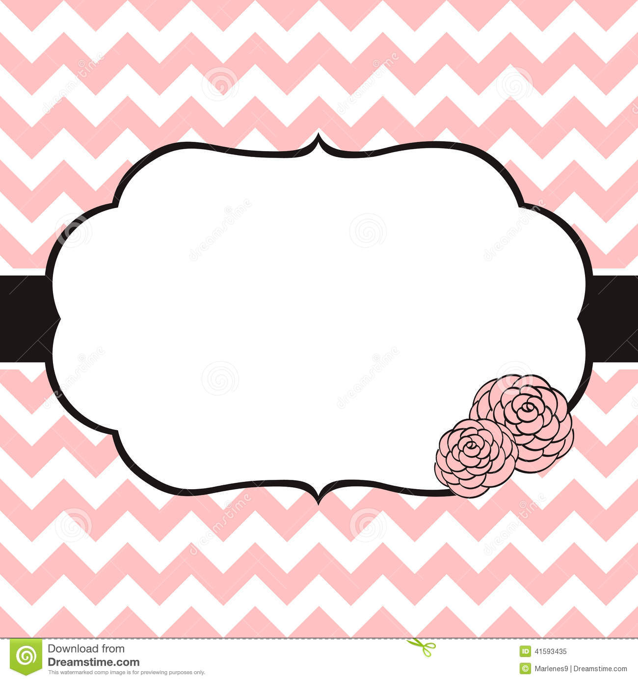 Black And White Polka Dot Wallpaper Border Floral Card Template Stock Vector Image Of Decorative