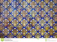 Floral Design Tiled Wall Background Stock Photos - Image ...