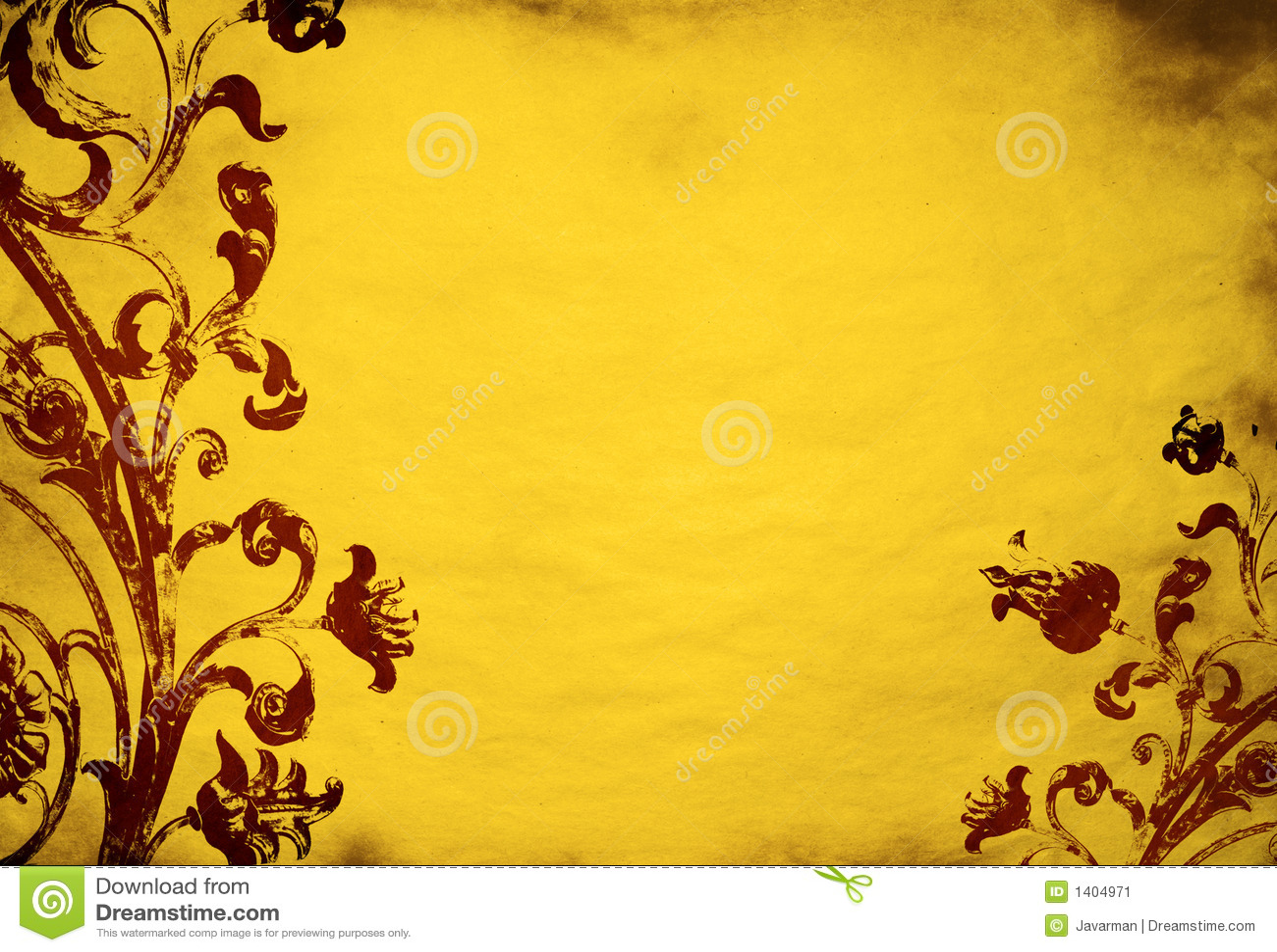 Black Wallpaper Border Floral Grunge Background Stock Illustration Illustration