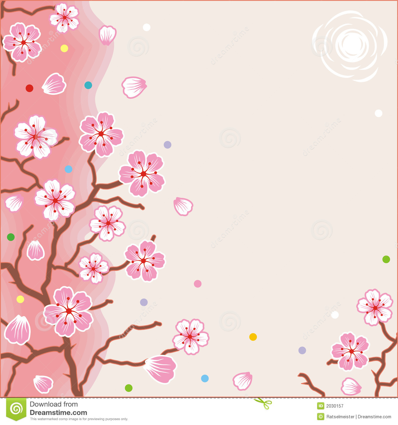 Falling Glitter Confetti Wallpapers Floral Pattern Spring Background Royalty Free Stock