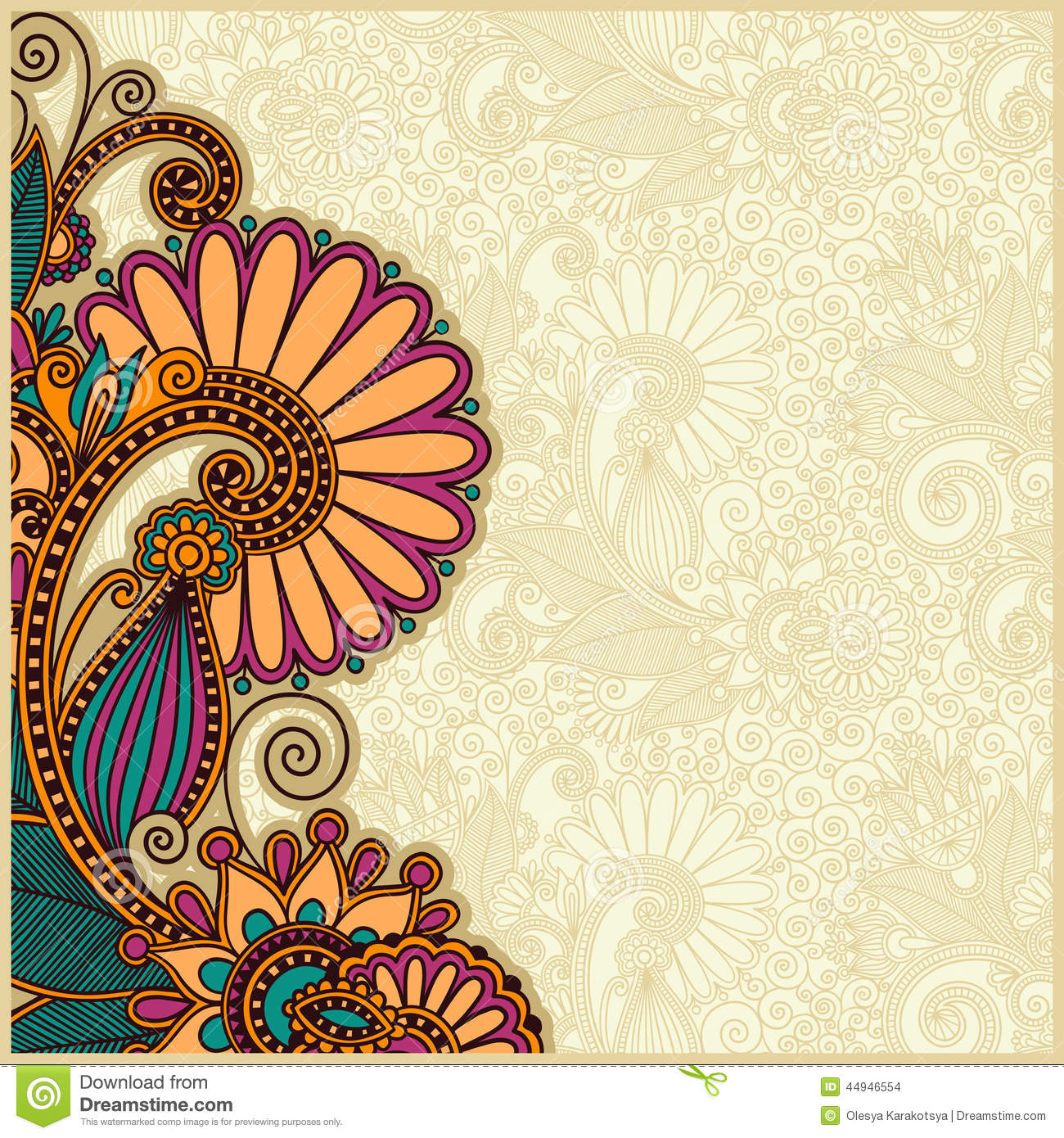 Stylish Wallpapers With Quotes Flower Background Design Stock Vector Image 44946554
