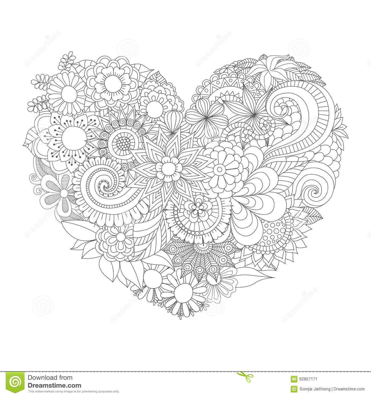 Online coloring hearts - Online Coloring Pages For Valentines Day