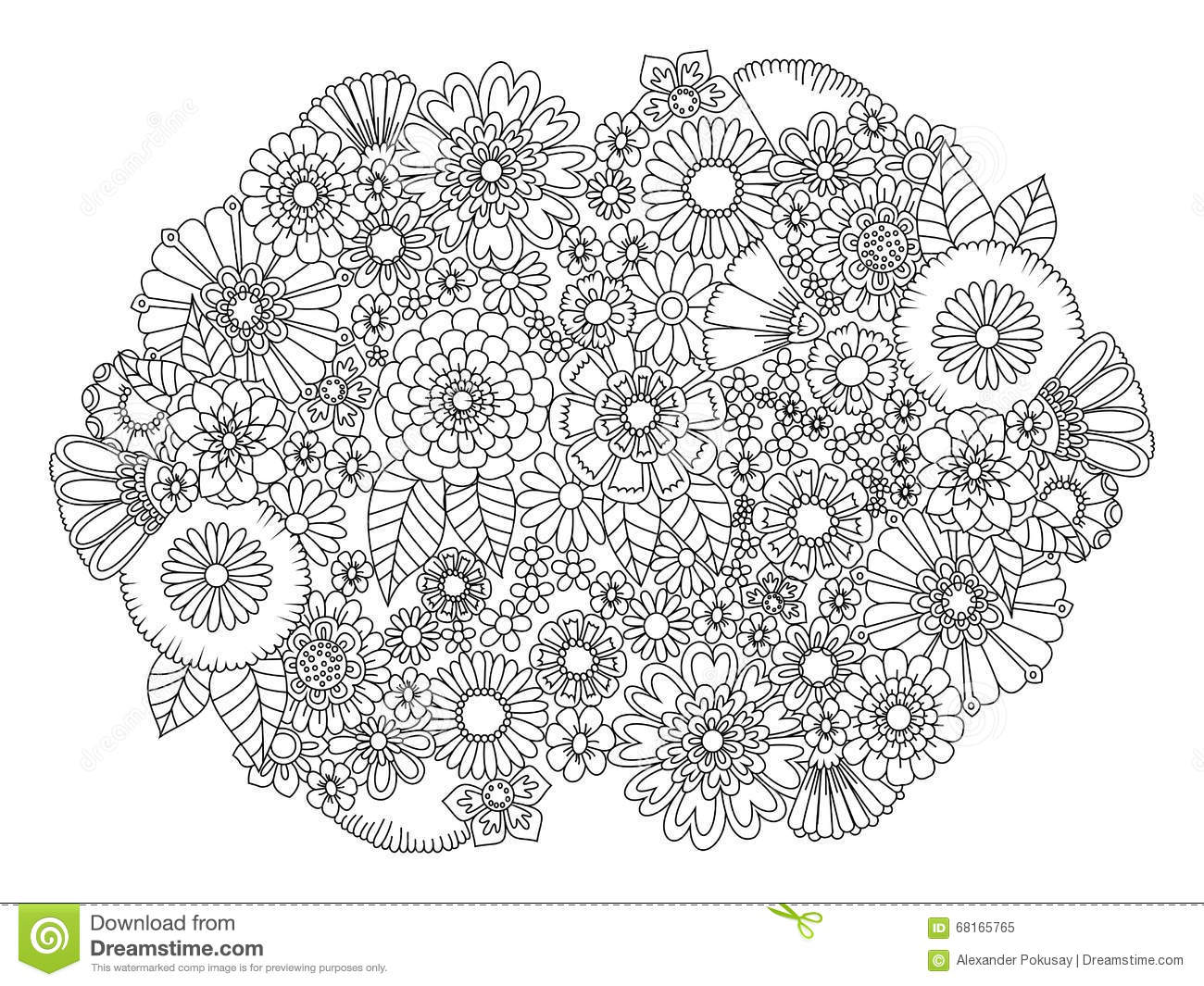 Adults and coloring books - Adults And Coloring Books Flowers Ornament Coloring Book For Adults Vector Download