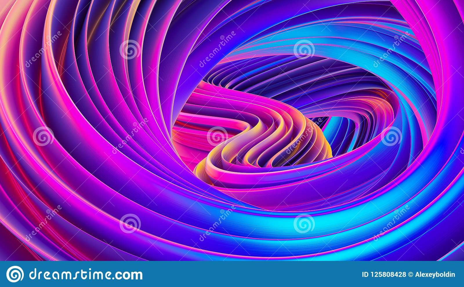 Iridescent Wallpaper Fluid Design Twisted Shapes Holographic 3d Abstract Background