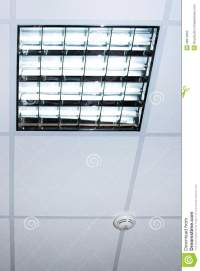 Fluorescent Lamp On The Modern Office Ceiling Stock Image ...