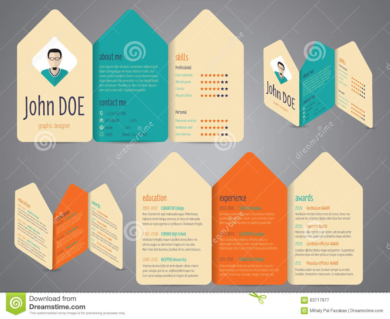 cv design illustration template