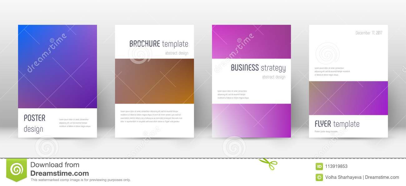Flyer layout stock vector Illustration of cool, booklet - 113919853
