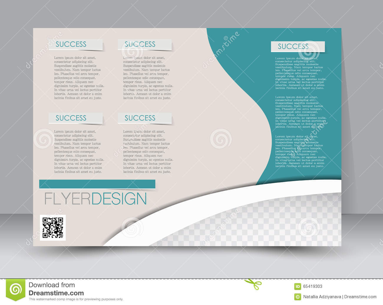 Poster design business - Flyer Template Business Brochure Editable A4 Poster For Design