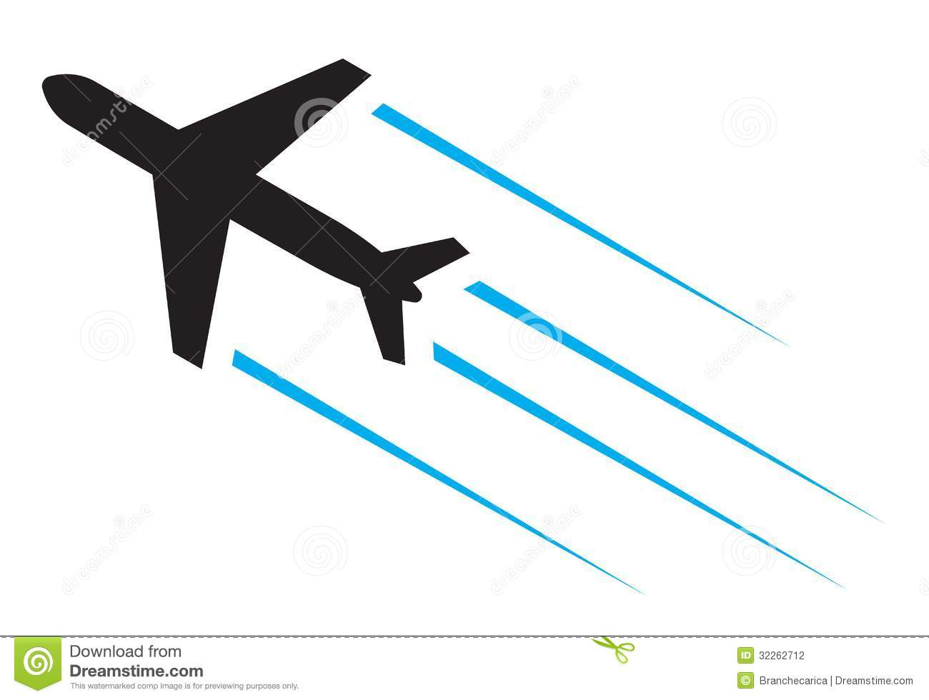 Flying Airplane Stock Vector Illustration Of Sign Stylized 32262712