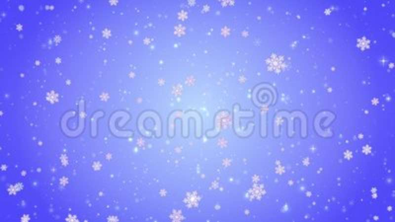 Flying Decorative Snowflakes Winter, Christmas, New Year Blue