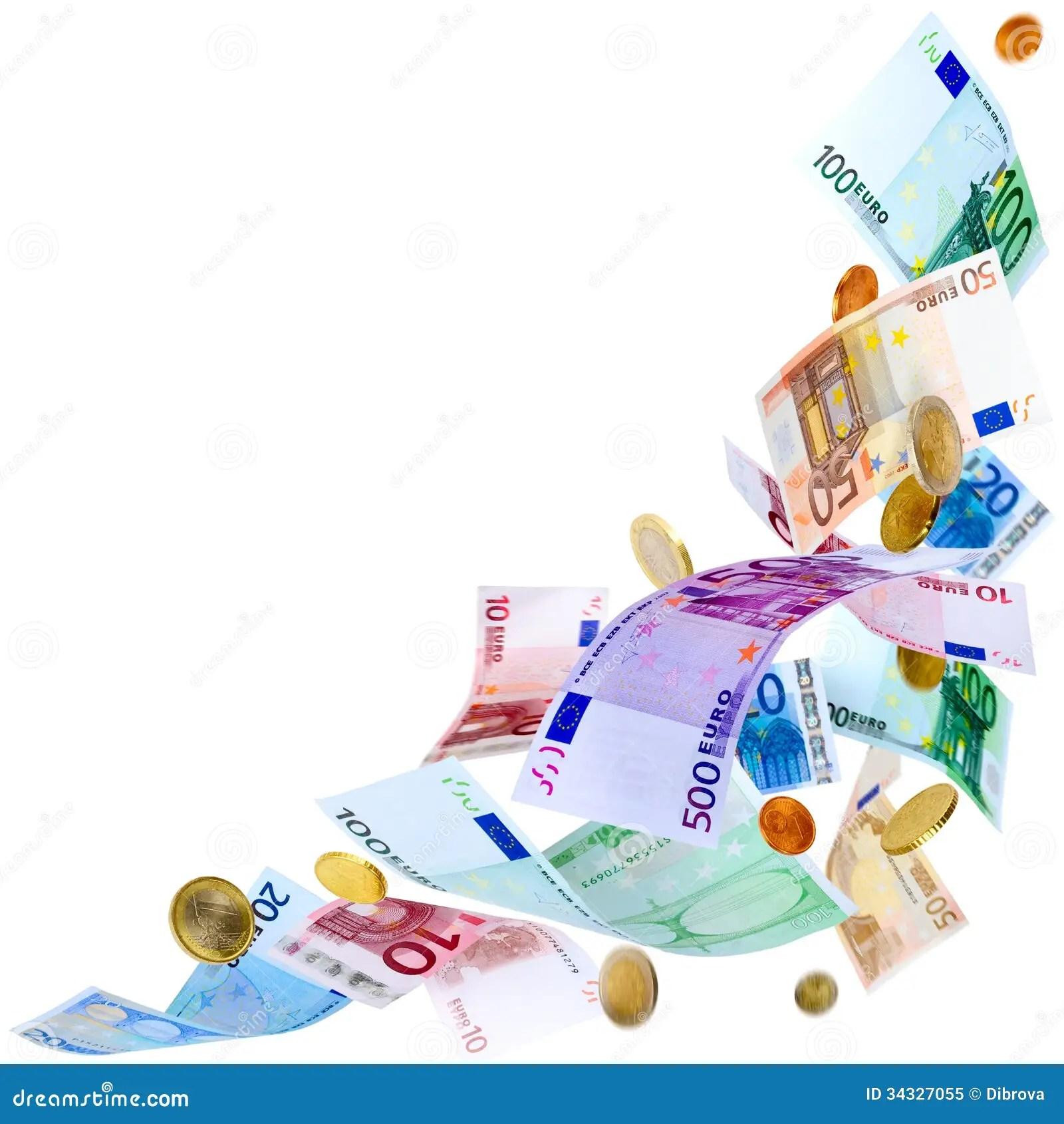 Snow Falling Wallpaper Download Flying Euro Money Royalty Free Stock Photo Image 34327055