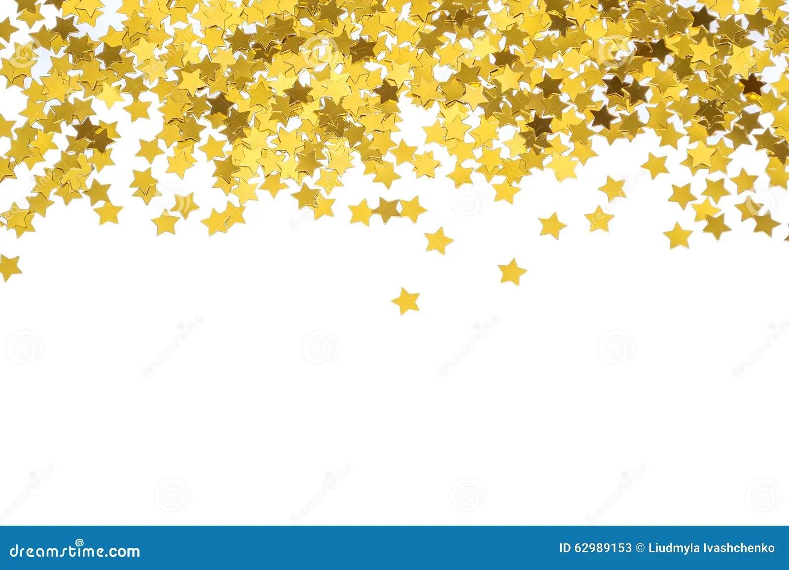 Falling Glitter Wallpaper Foiled Gold Stars Frame With Stars Scattered Stars