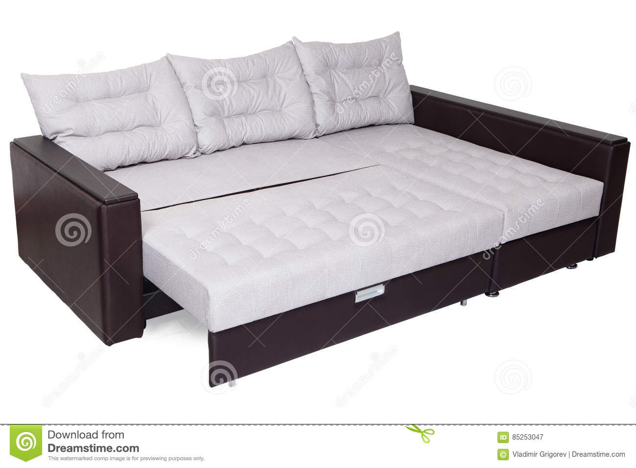 Sofa Bed In Dreams Upholstered Background Stock Photo Cartoondealer