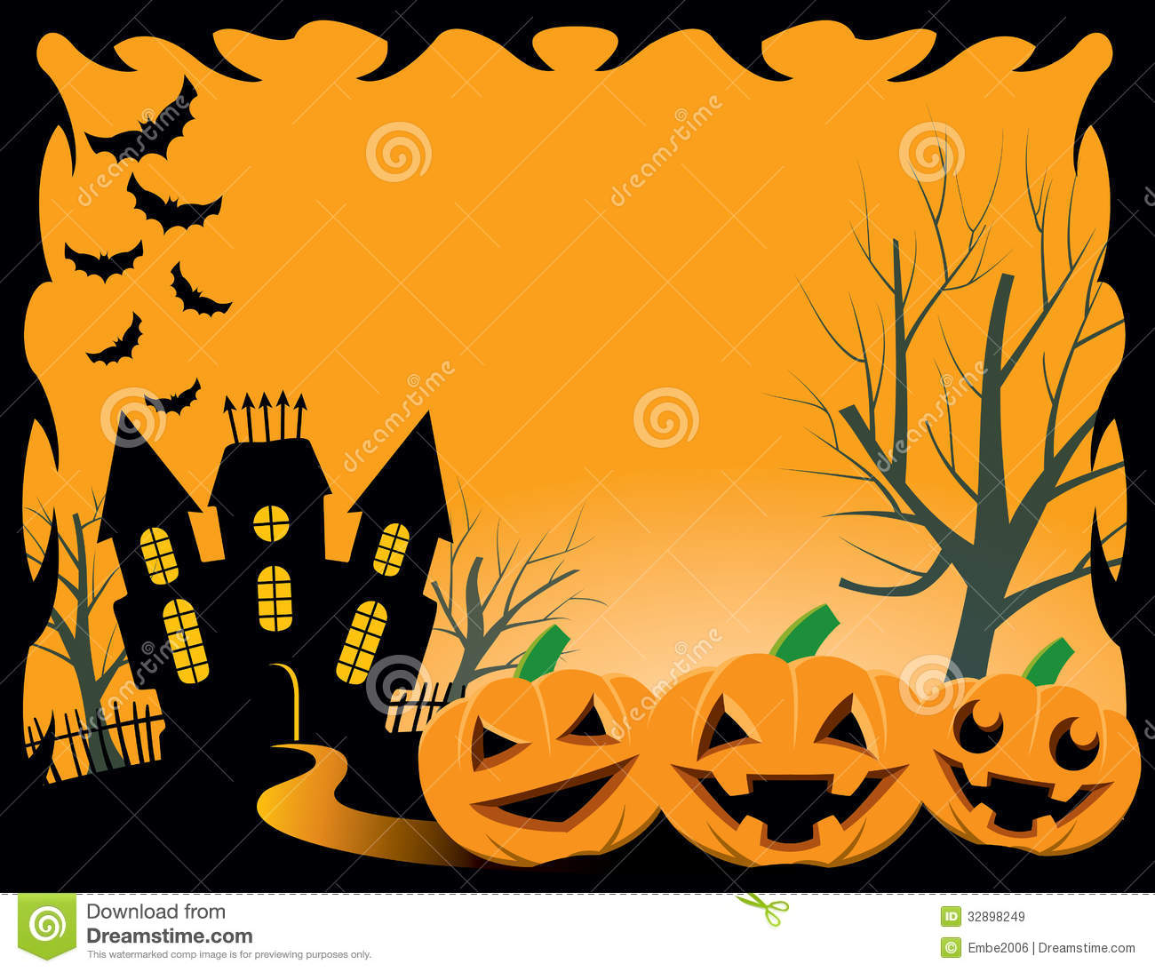 Free Cute Fall Wallpapers Fond De Halloween Illustration De Vecteur Illustration Du