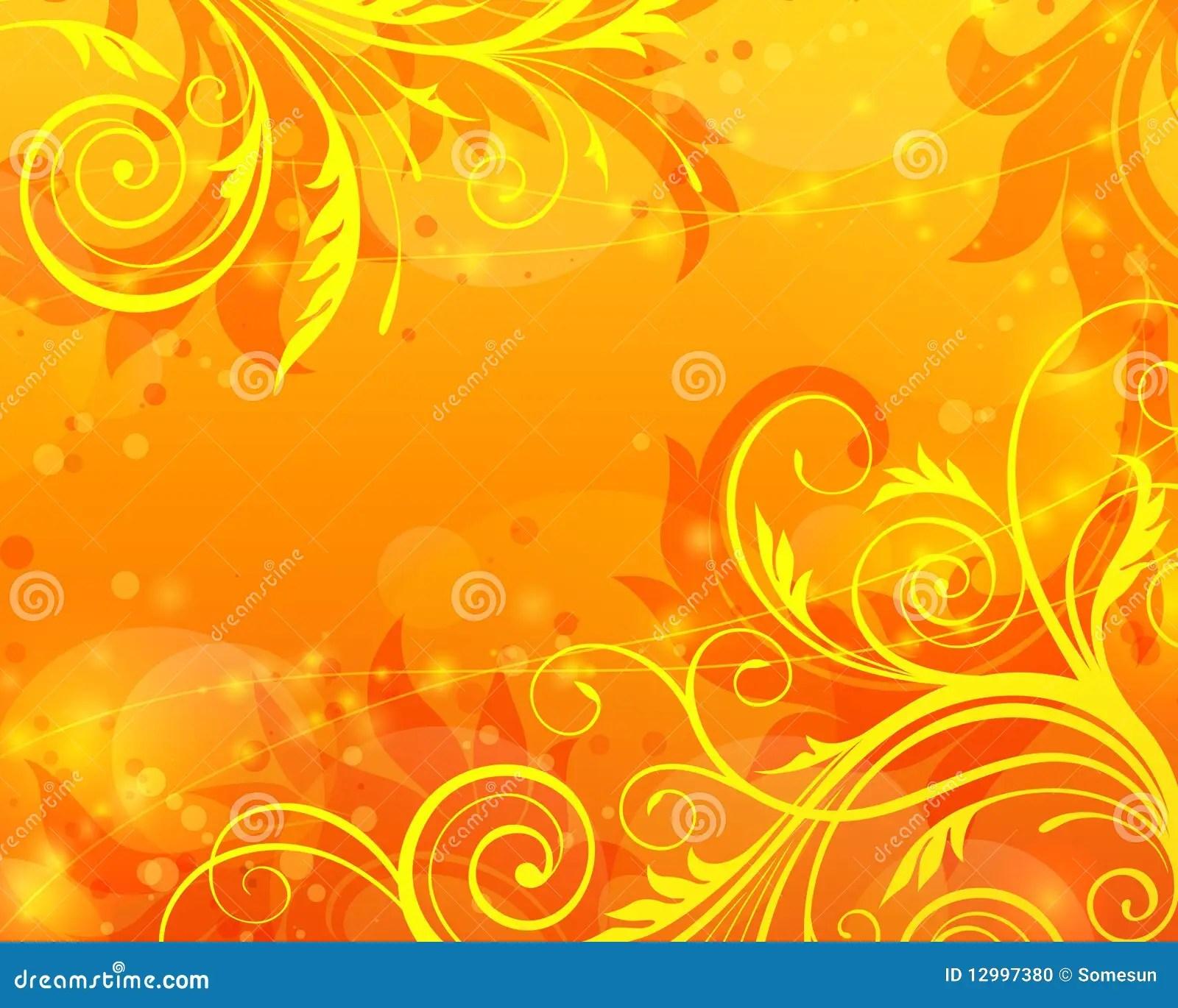 Orange Color Wallpaper Hd Fond Orange Floral De Vecteur Illustration De Vecteur