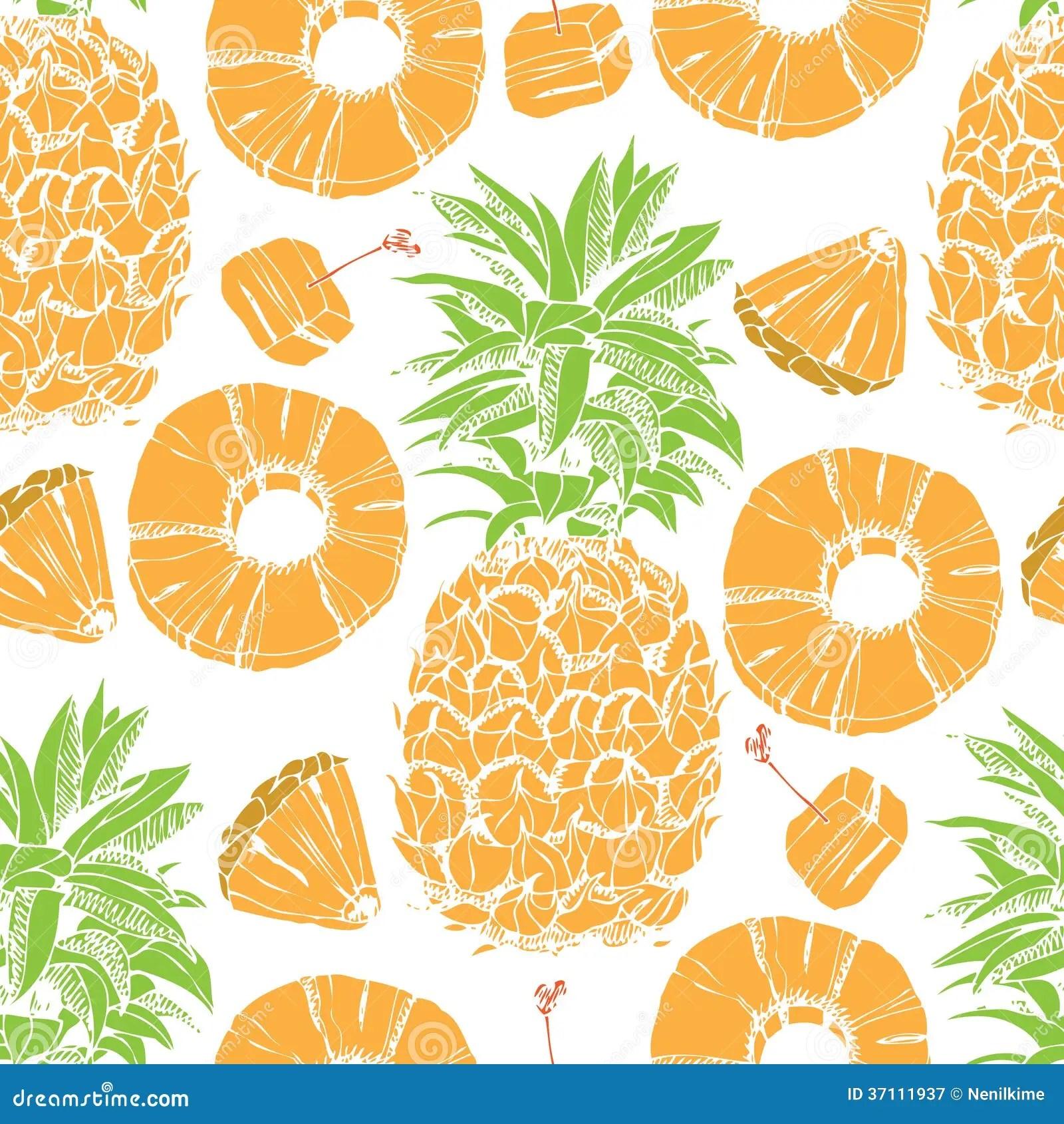 Cute Pineapple Iphone Wallpaper Fond Sans Couture D Ananas Photographie Stock Libre De
