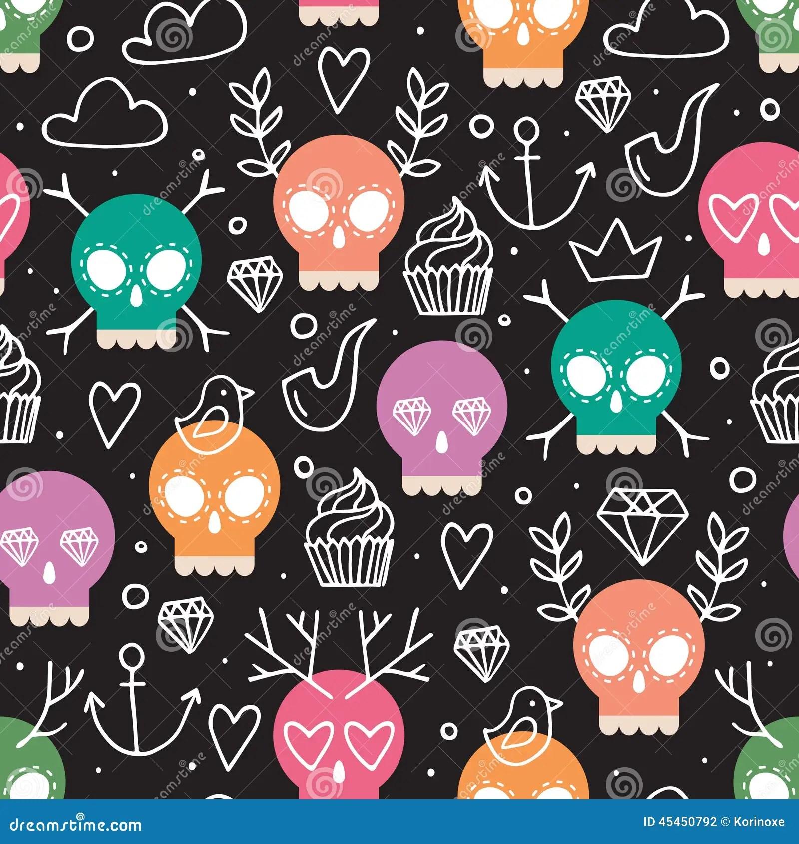 Cute Dia De Los Muertos Wallpaper Fondo Colorido Para El D 237 A De Los Muertos Ilustraci 243 N Del
